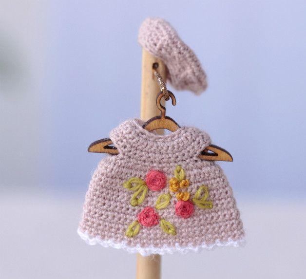 Puppenkleidung - Miniatur Häkelkleidung für die Puppe5-7cm - ein ...