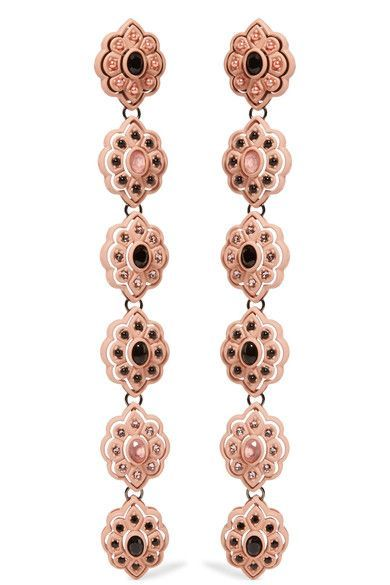 Gold-plated, Resin And Crystal Earrings - one size Gucci