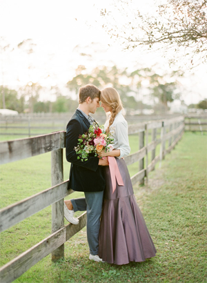 Rustic Wedding Engagement Photos | Italian Engagement Photos Ideas/Equestrian Inspirations