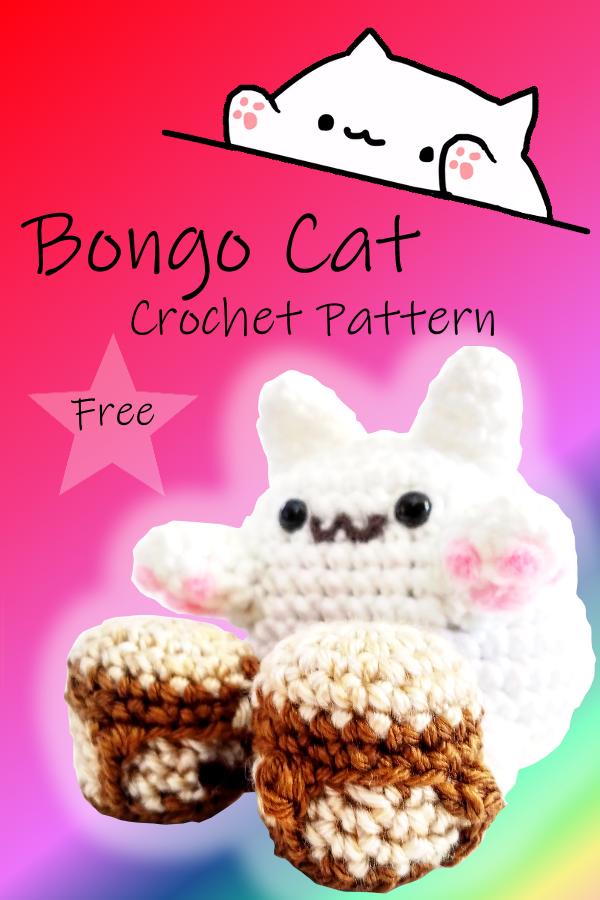 Bongo Cat Crochet Pattern Crochet Cat Crochet Patterns Crochet