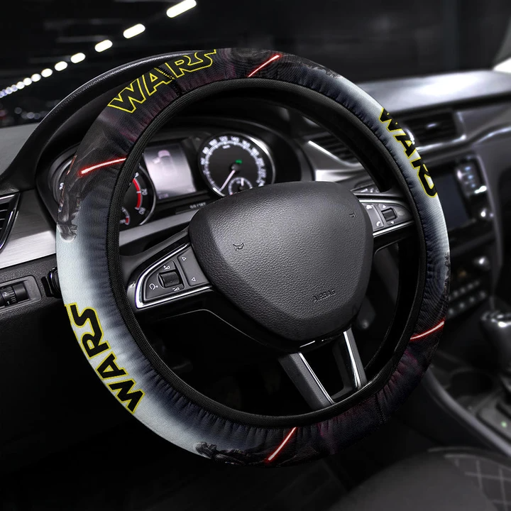 Photo of Star Wars Movie Steering Wheel Cover   Darth Vader And Raven Lighsaber Fanart Steering Wheel Cover NT042201