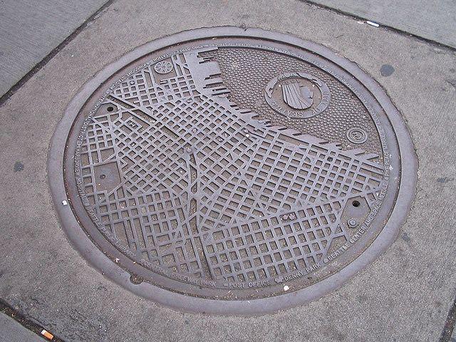 Manhole Cover Art Seattle Map Seattle Map Cover Art Art