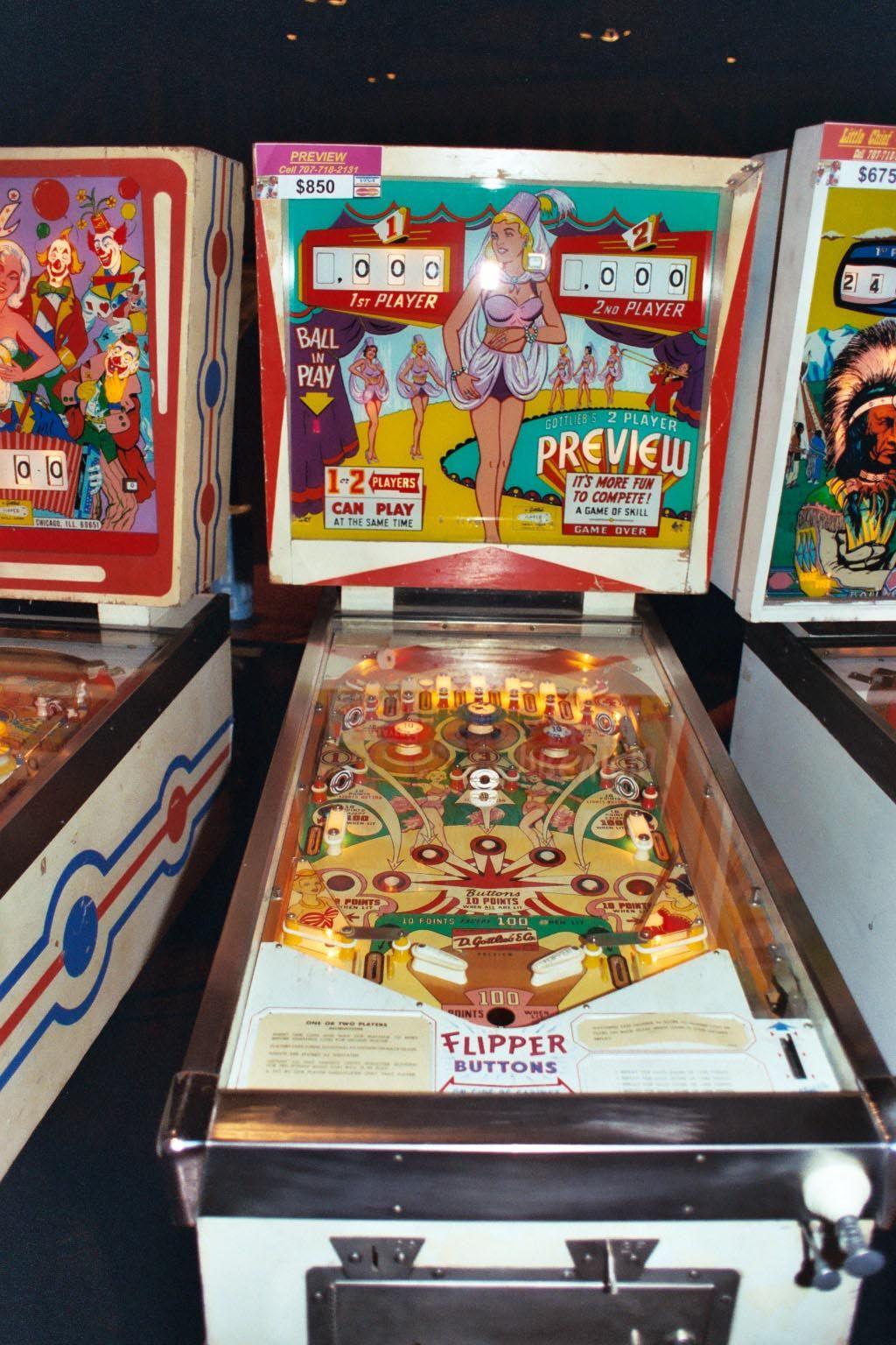 "1962 Preview ""Gottlieb "" Pinball Machine"