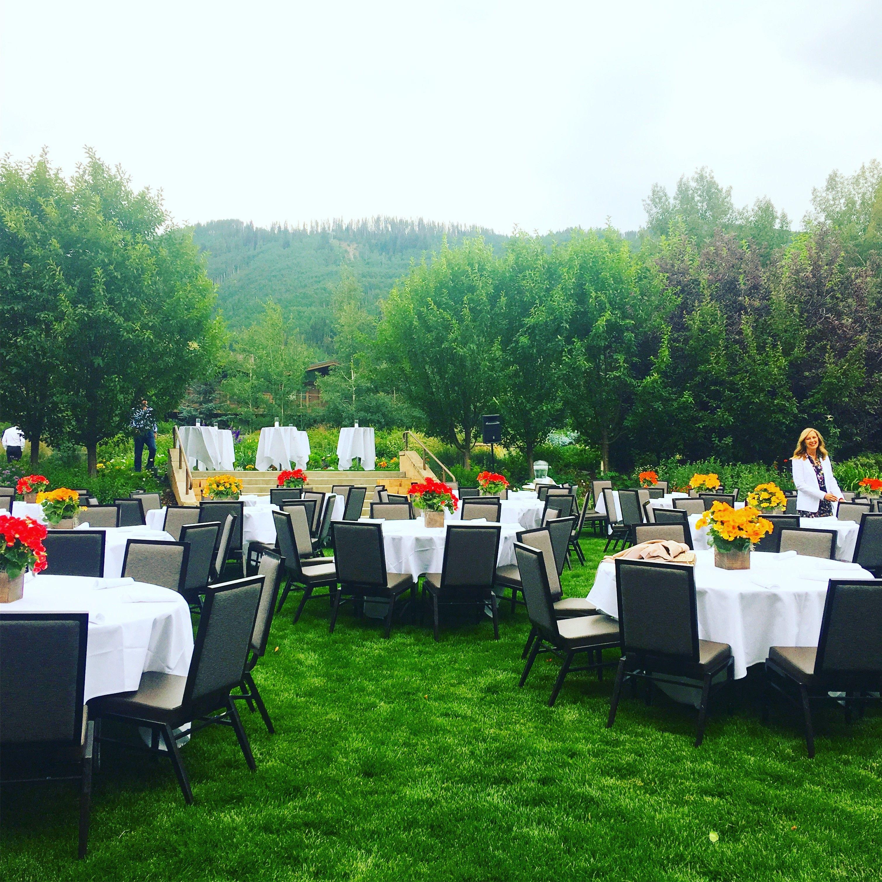 Manor Vail Lode Golden Peak Gardens Event Venues Outdoor