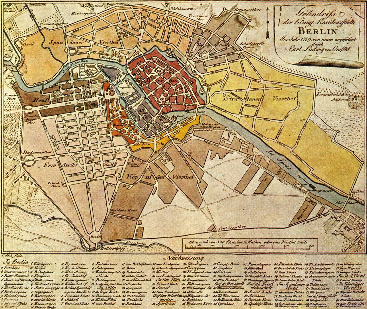 Luisenstadt Alte Karten Berlin Karte Kartographie