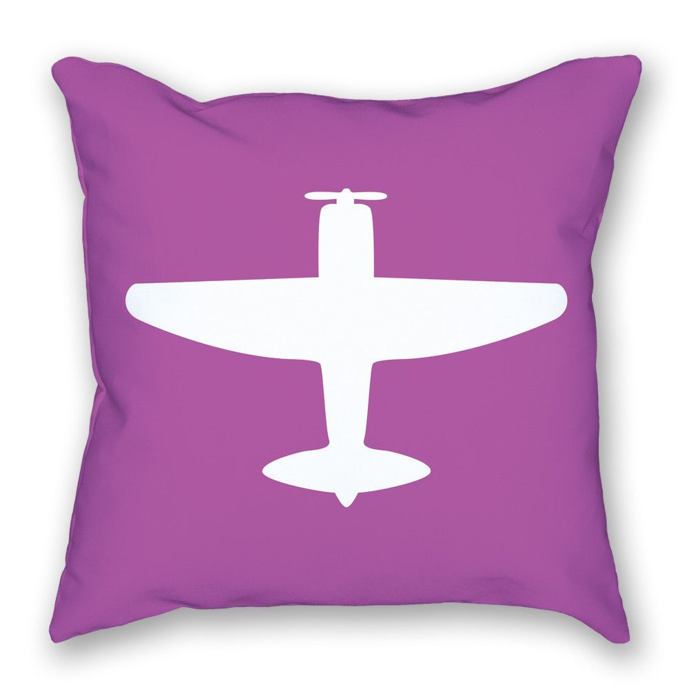 P-47 Bright Airplane Pillow