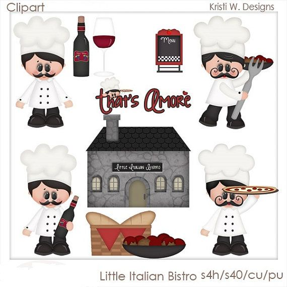 Little Italian Bistro Is A Digital Clipart Set This Set Contains