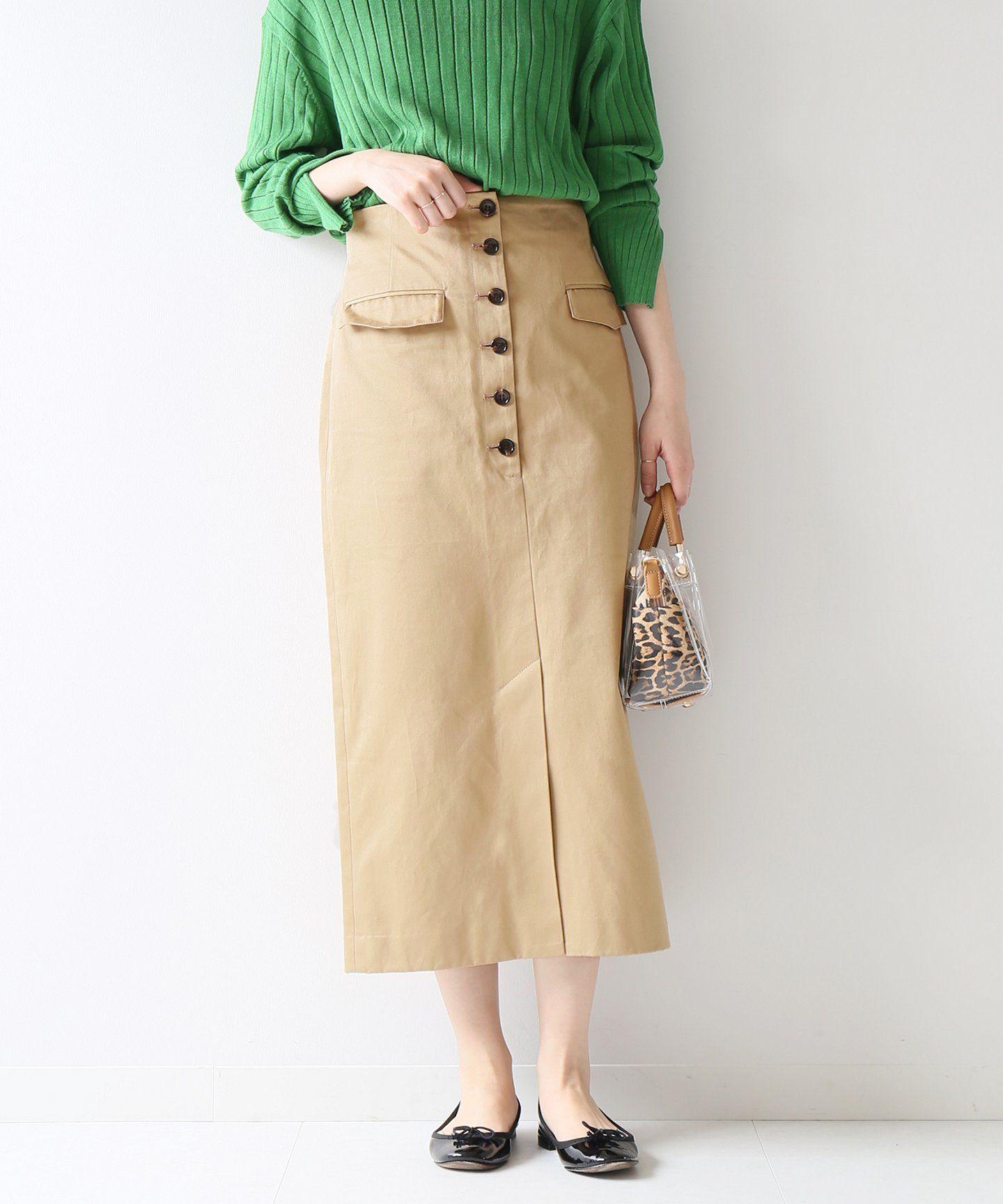 フロントボタンタイトスカート spick and span スピック スパン 公式のファッション通販 19060200501010 baycrew s store ファッション ファッションアイデア ファッション通販