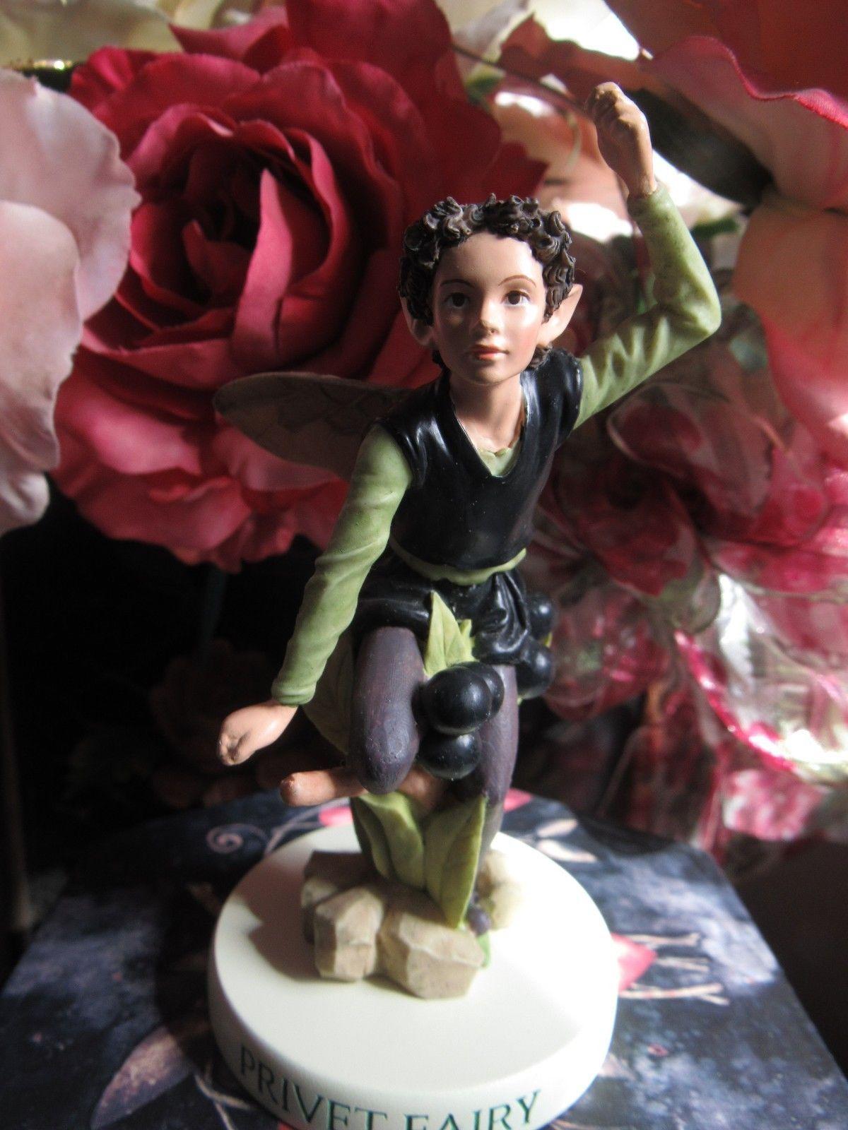 ELM TREE FAERY Flower Fairy Ornament On Base Cicely Mary Barker faerie figurine