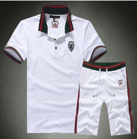 Gucci Menu0026#39;s Short Suit White Www.saleurbanclothing.com | Cheap Gucci Clothing Online Sale ...