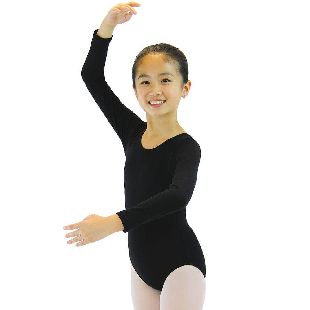 Danzcue Girls Basic Long Sleeve Leotard