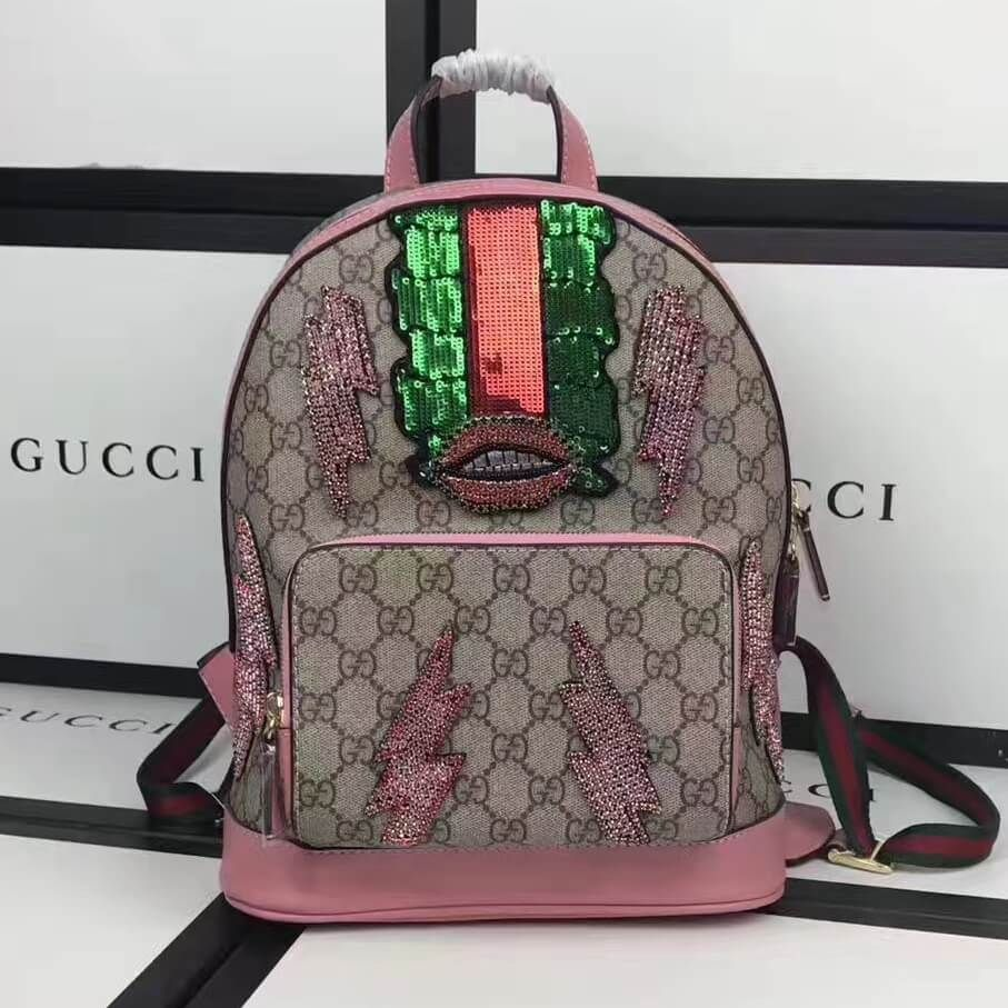 c6ece30305fb89 Gucci Exclusive GG Supreme Backpack 100% Authentic | Authentic Gucci  Handbags