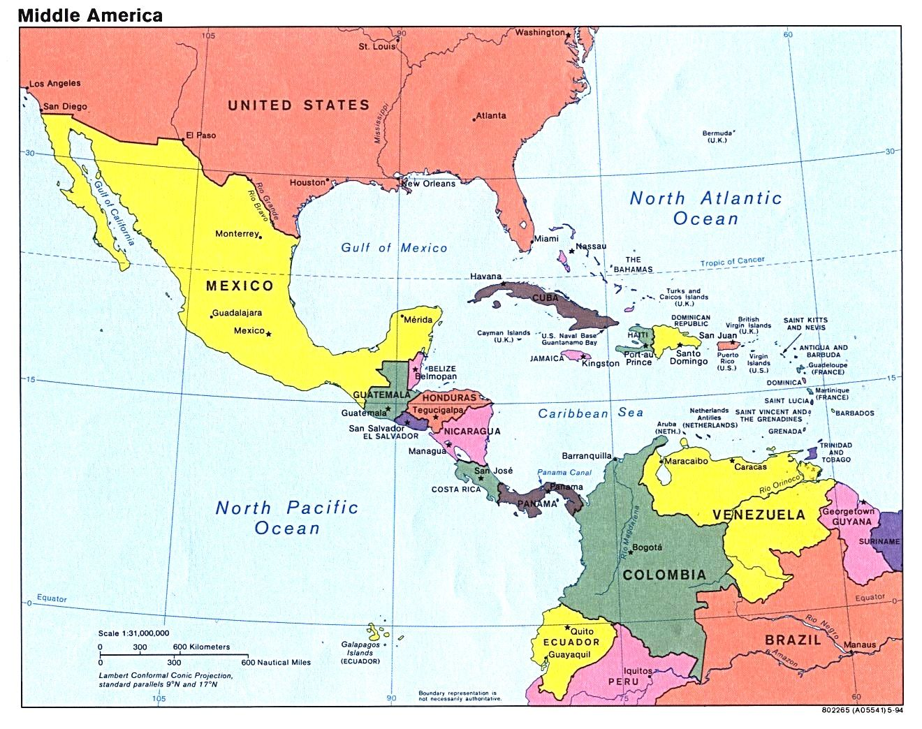 North America Map With Central Links To Regional Tourist ...