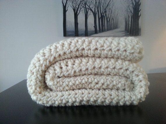 Free Shipping Modern Crochet Blanket Cream Crochet Blanket Throw Inspiration Cream Chunky Throw Blanket