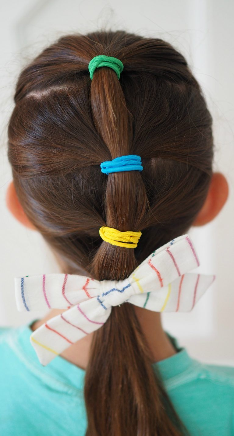 Very easy hair styles for girls from toddlers to school age aj