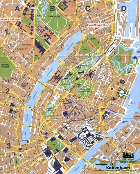 Copenhagen Map Summer plans Pinterest Copenhagen map