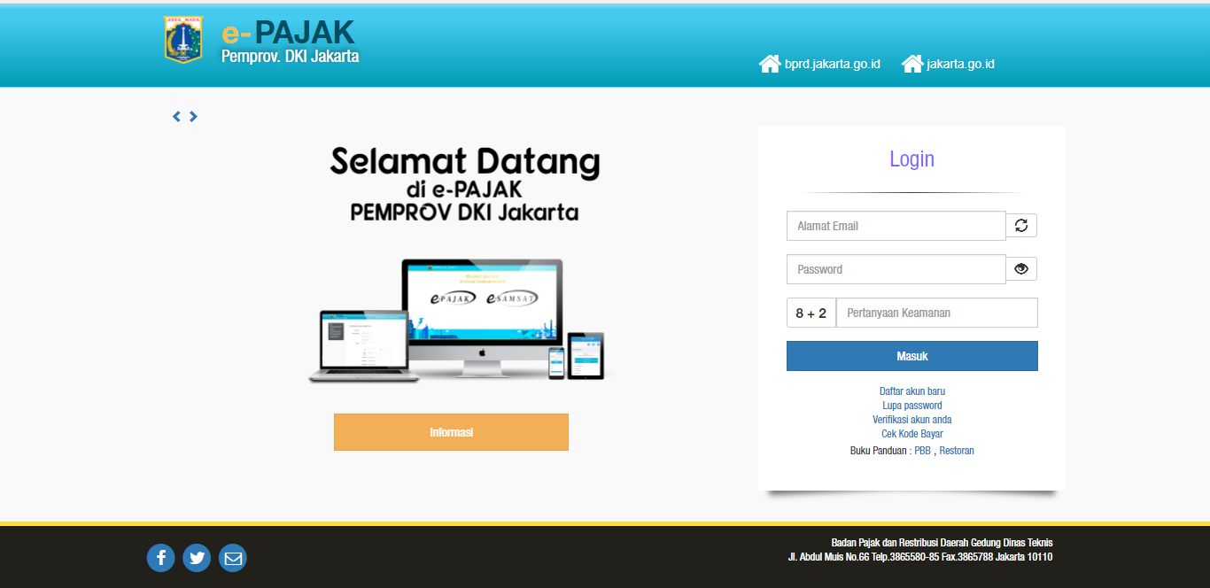 Dengan Ini Diumumkan Kepada Seluruh Wajib Pajak Bahwa Badan Pajak Dan Retribusi Daerah Bprd Provinsi Dki Jakarta Telah Memiliki S Aplikasi Website Komunikasi