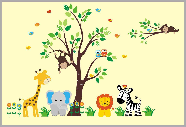 Old Fashioned Nursery Wall Decor Safari Photo - All About Wallart ...