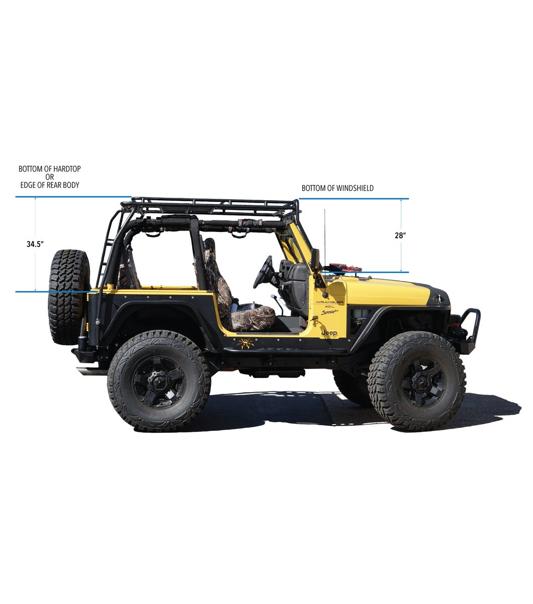 Gobi Jeep Tj Stealth Rack Lightbar Setup With Sunroof Jeep Tj