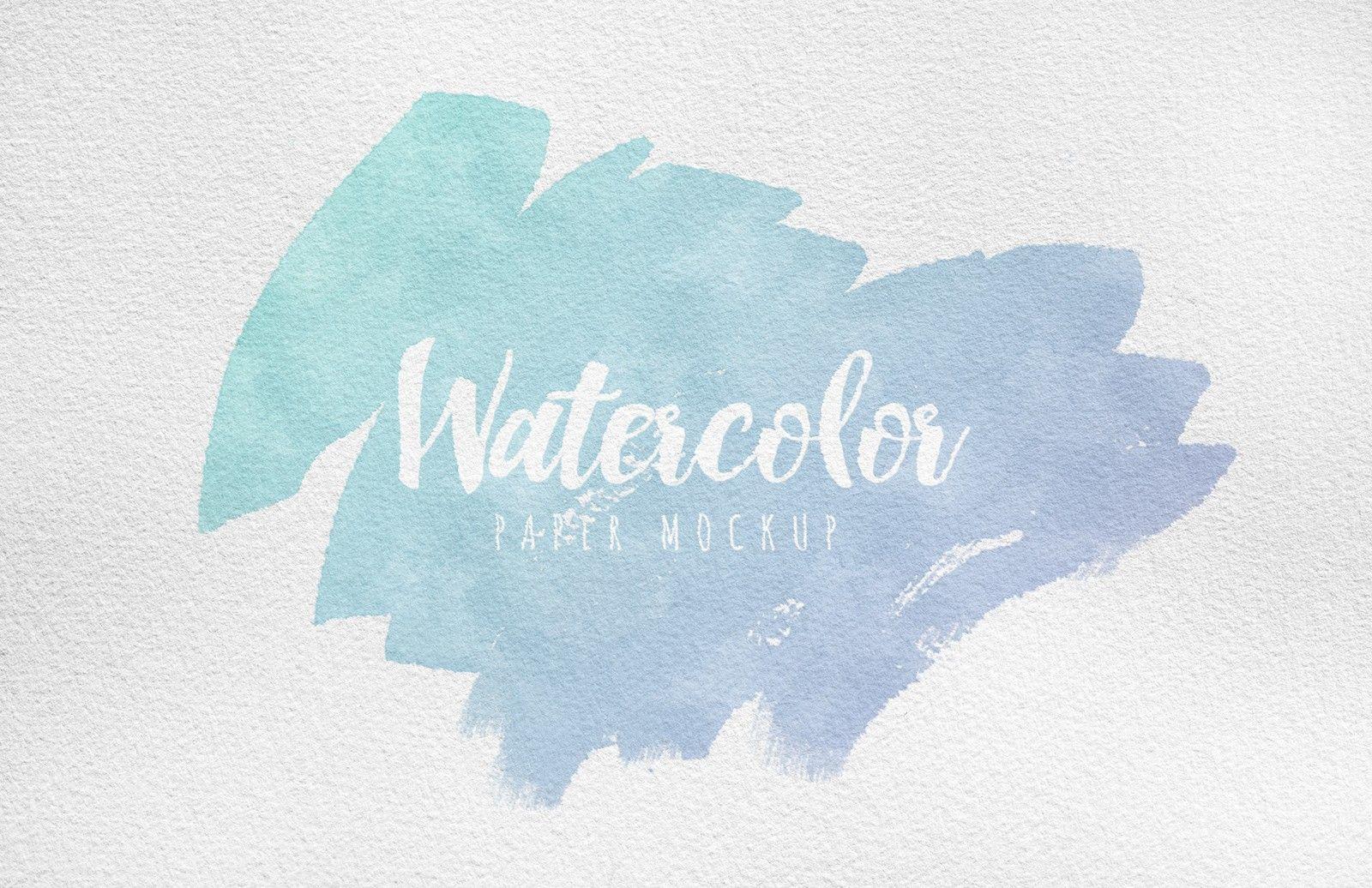 Watercolor Paper Mockup Watercolor Paper Watercolor Paper Design