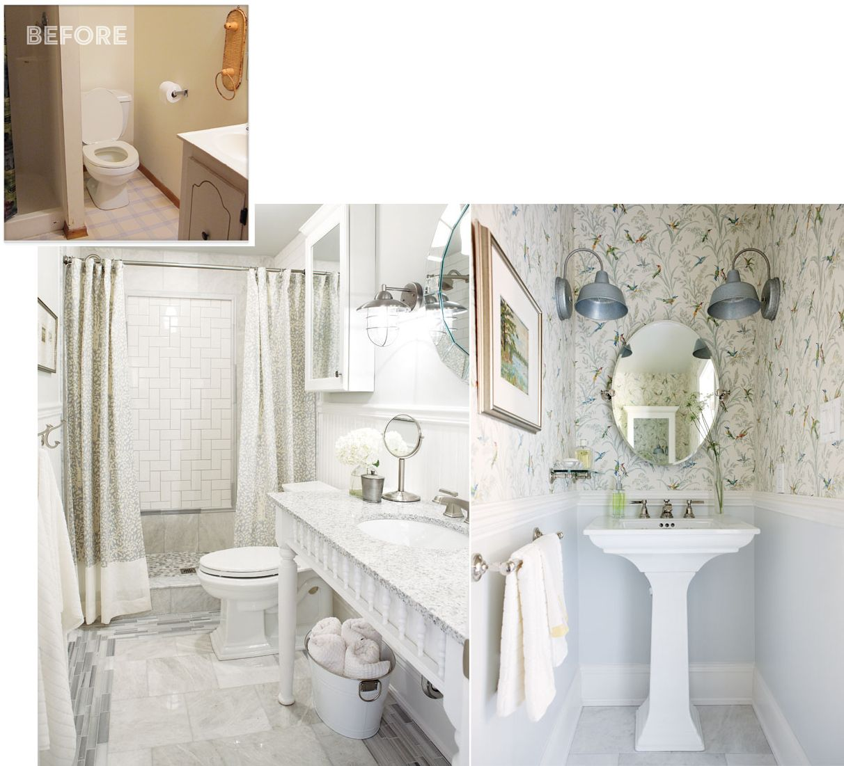 How to turn your home into a cozy country getaway | Custom vanity ...