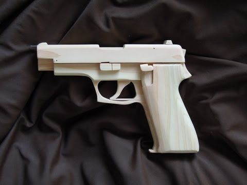 SIG SAUER: PDF plans included | awesome | Rubber band gun