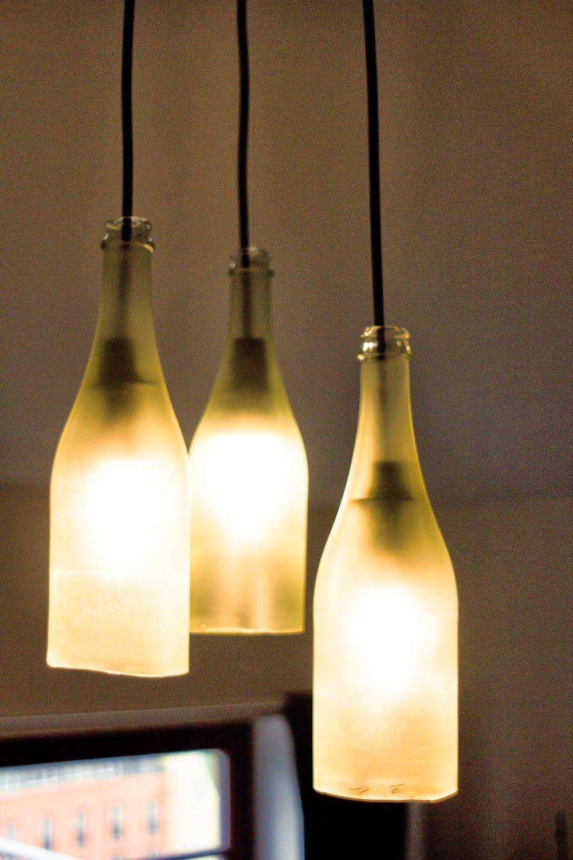 DIY Lampe Aus Weinflaschen Oder Sektflaschen