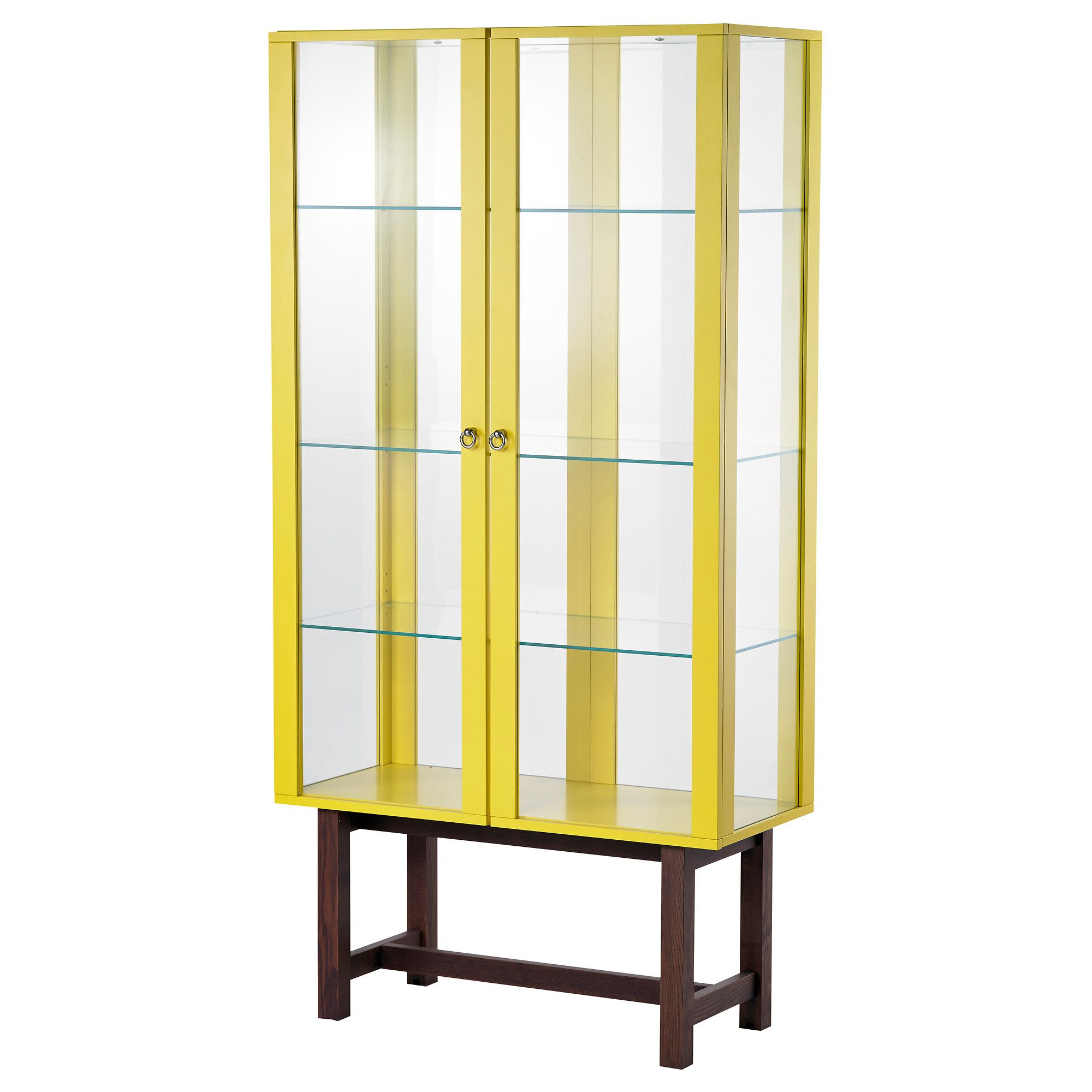 STOCKHOLM Glass Door Cabinet   Yellow   IKEA
