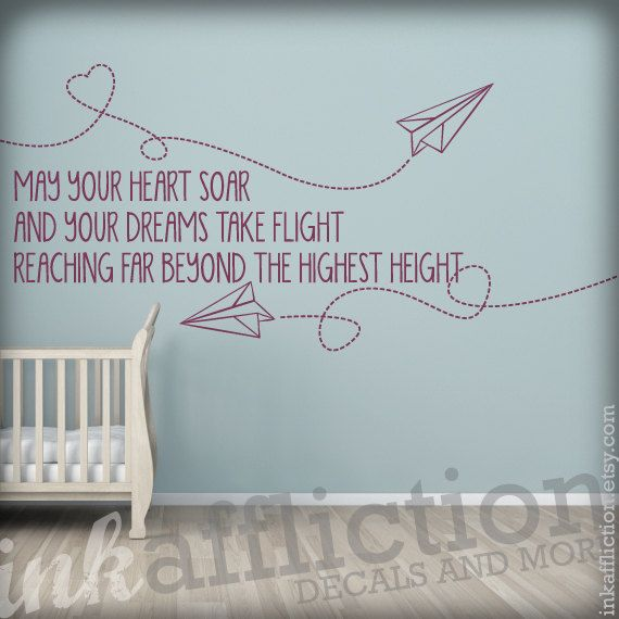 0e4551e0e5c3c Paper Airplanes Quote Wall Decal - LARGE 48x22 (FREE shipping). $55.00, via  Etsy.