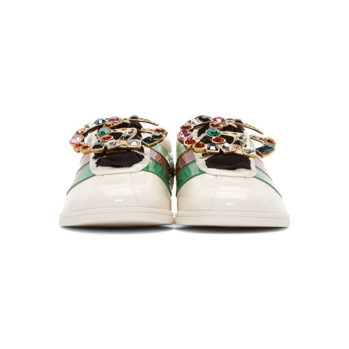 4531108bbeb Gucci - Ivory Falacer Bowling Sneakers Buy Gucci