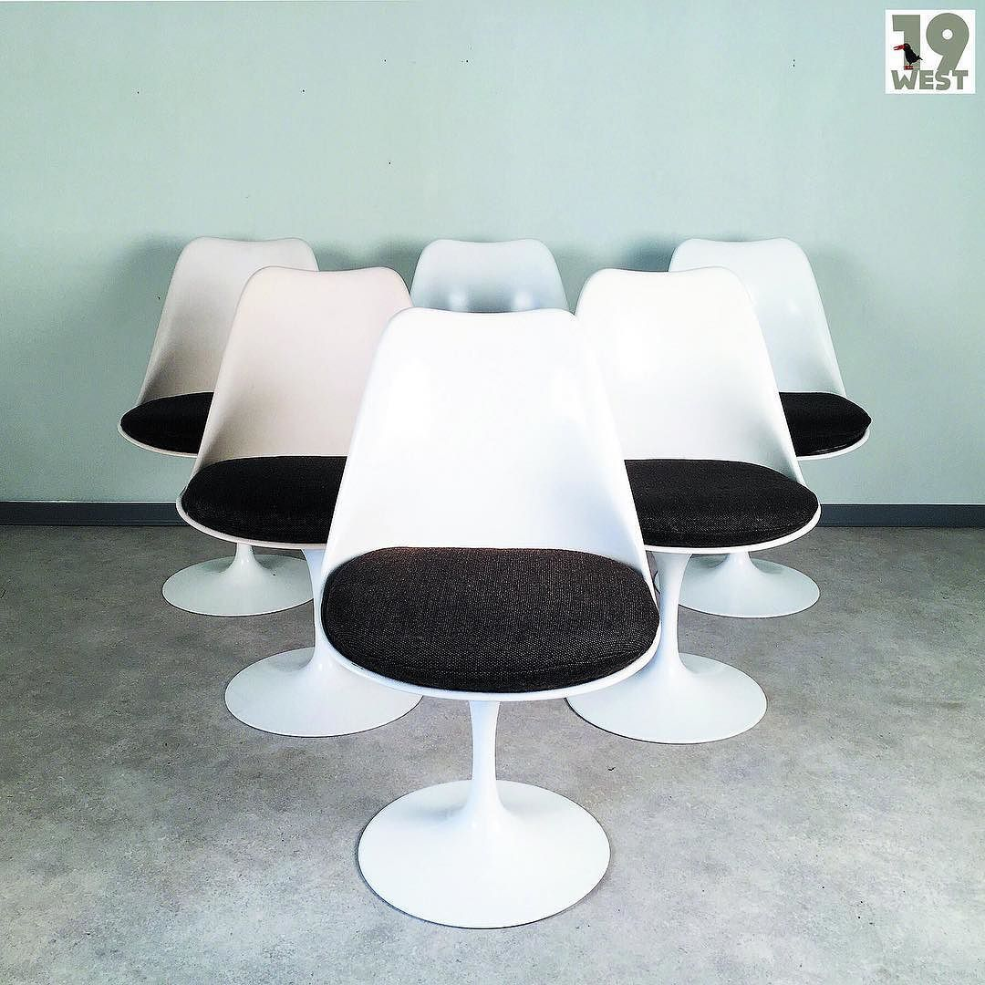 Six Original Knoll Tulip Chairs By Eero Saarinen For Sale On Www
