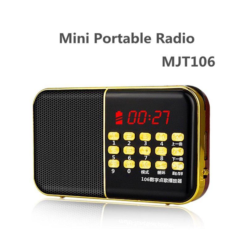 MJT106 Multi Function Portable Radio Card Neutral Elderly