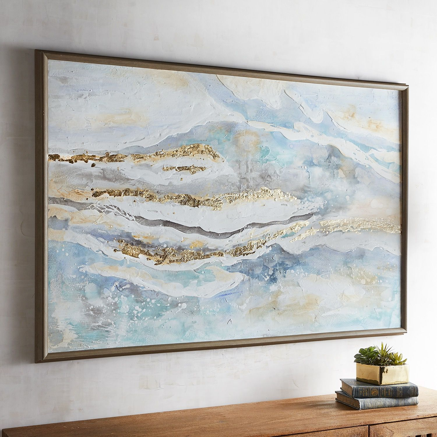 Coastal Whisper Abstract Framed Art | Products in 2018 | Pinterest ...