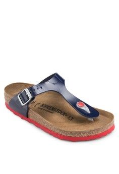 ea8a62f34f73 Gizeh Sandals from Birkenstock in blue 1