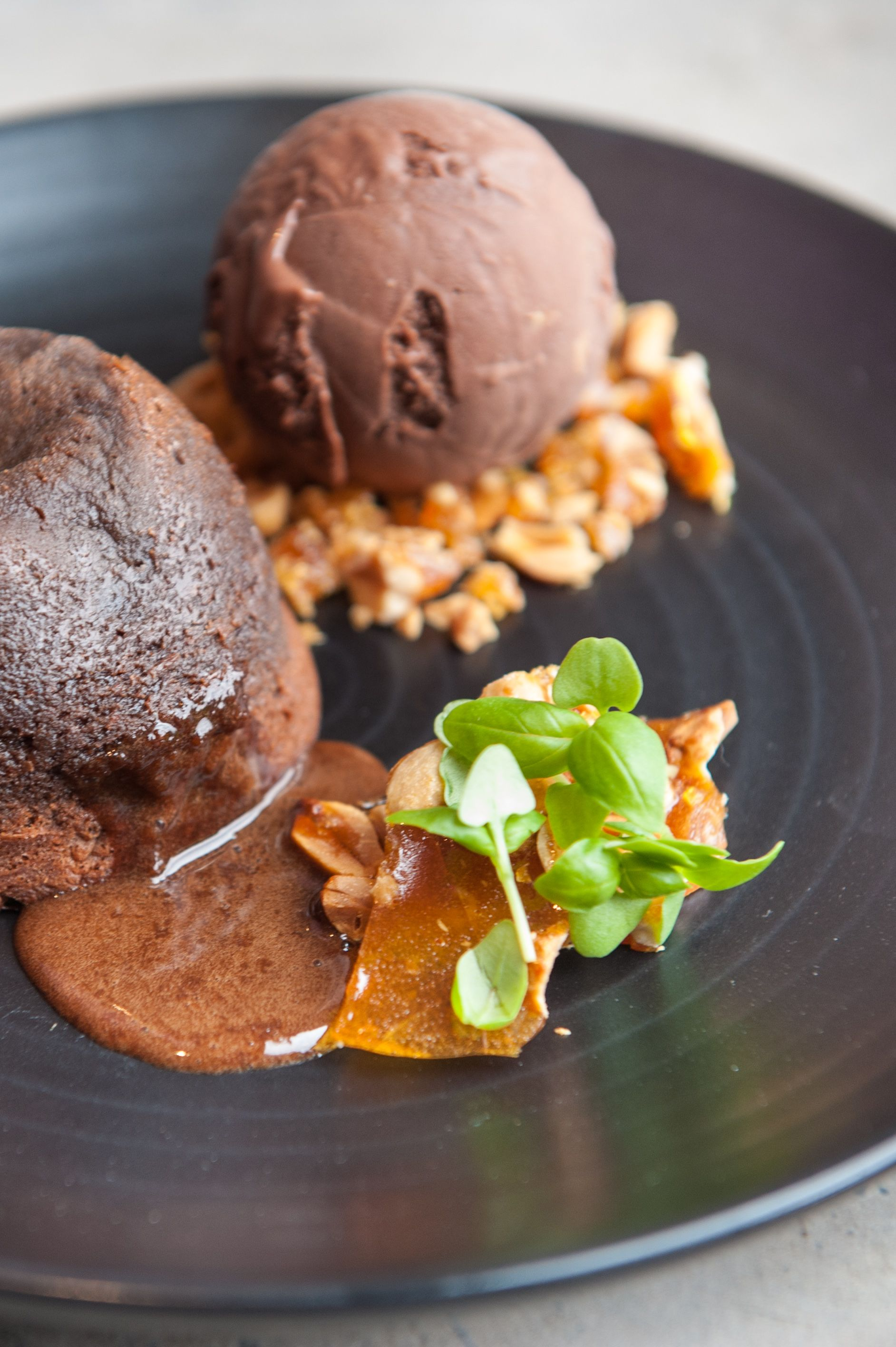 Chocolate fondant with peanut butter chocolate ice cream @ Junction // www.junctionmoama.com.au