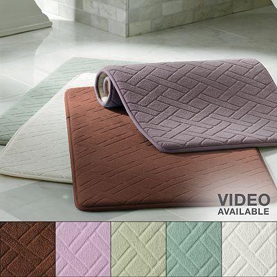 Memory Foam Cushioned Bath Rug Kohls 9 99 On Sale Super Comfy And Cute For My Dorm Bathroom Pbdorm Dorm Style