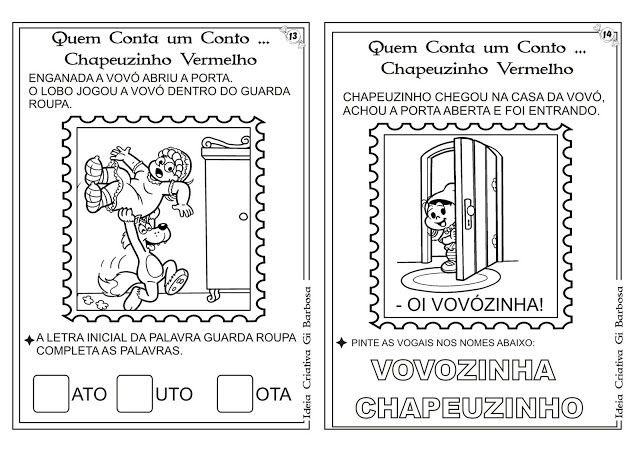 Atividades Conto Chapeuzinho Vermelho Pra Colorir Educacao