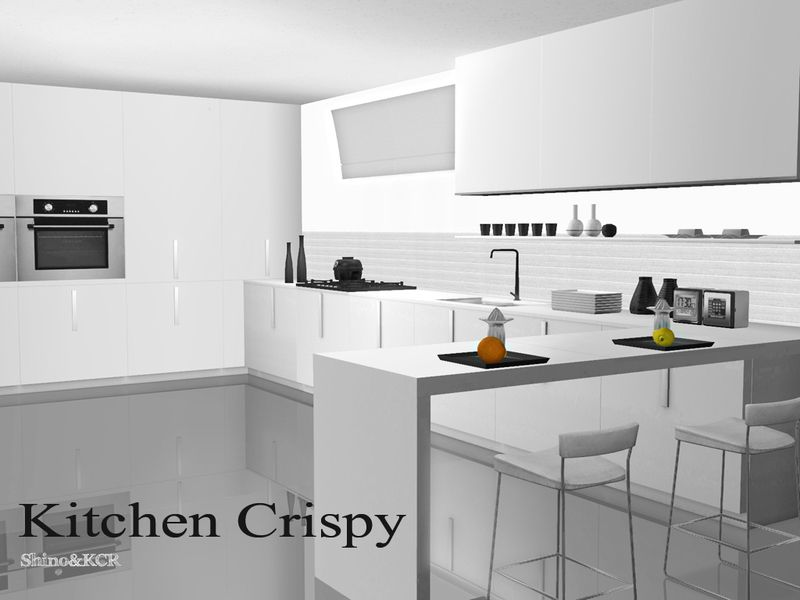 Shinokcr S Kitchen Crispy Modern Set Sims 4