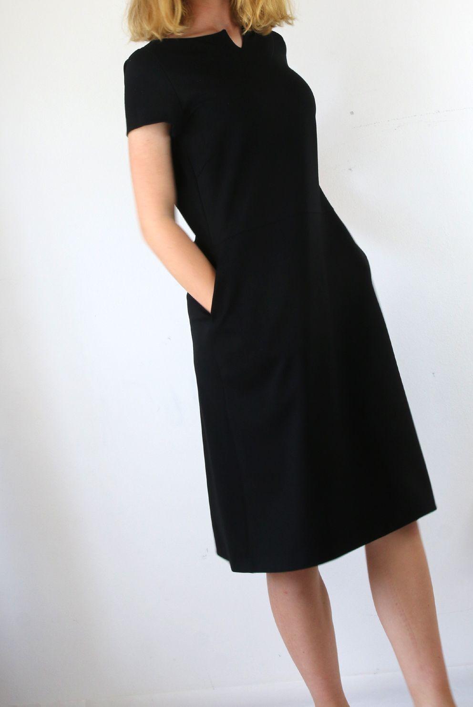 black dress | modestil, schwarzes kleid, frau