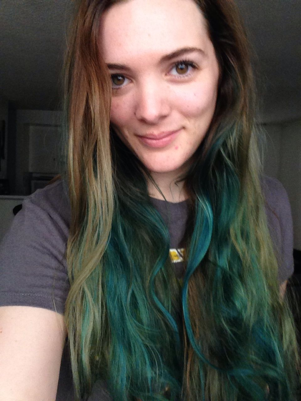 Manic Panic Atomic Turquoise I Used A Cap And Grabbed Highlights