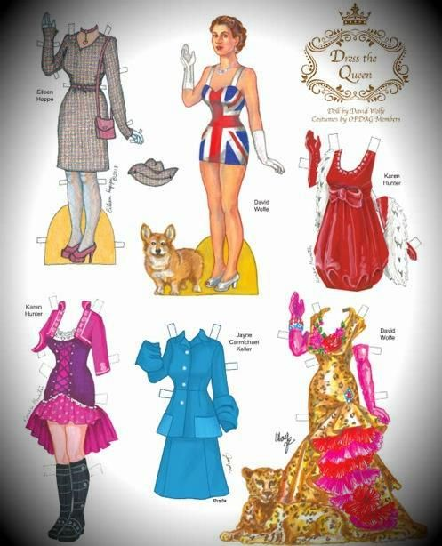 Queen Elizabeth Dress Up Paper Doll   By The Paper Collector