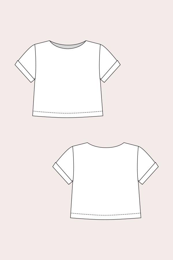 Inari Tee Dress | Schnittmuster bluse, Blusen und Schnittmuster