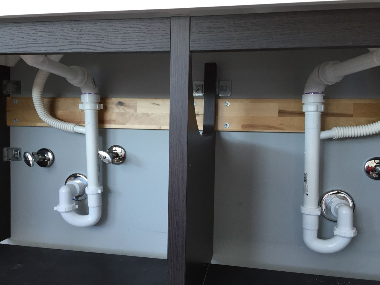 Plumbing Hack For Ikea Rinnen And Double Godmorgon Sink Trendy