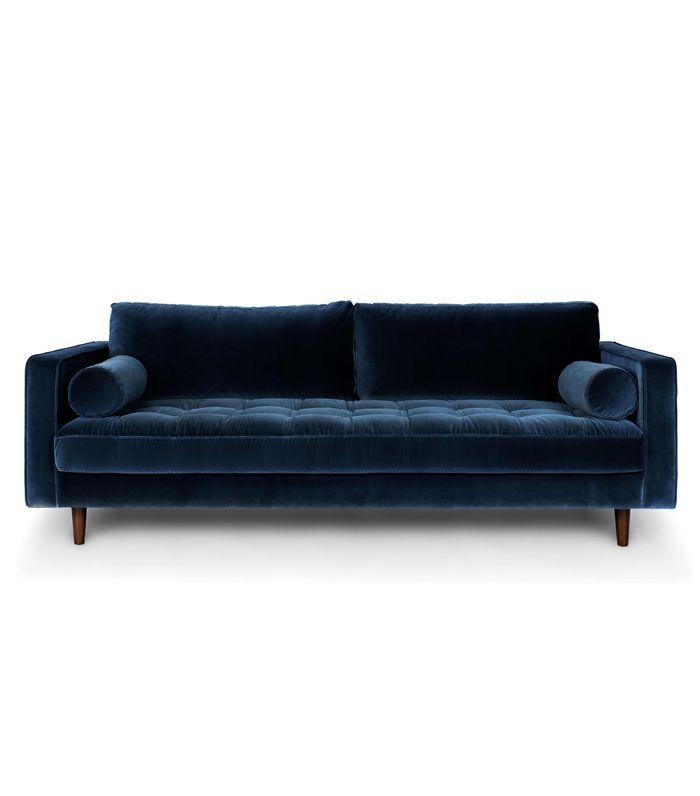 Blue Velvet Tufted Sofa   Upholstered | Article Sven Modern Furniture
