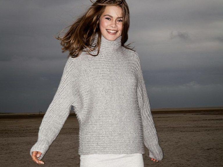 DIY Anleitung: Bequemen Pullover mit Rollkragen und