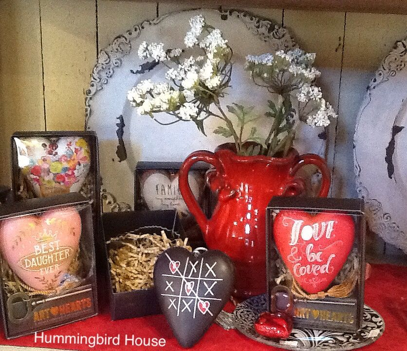 Perfect for Valentine's gifts! Art hearts are designed to either hang or insert the ornamental key to make a stand. These thoughtful hearts are a perfect and unique gift to give or collect. Gift boxed assortment ready and waiting for you at Hummingbird House.