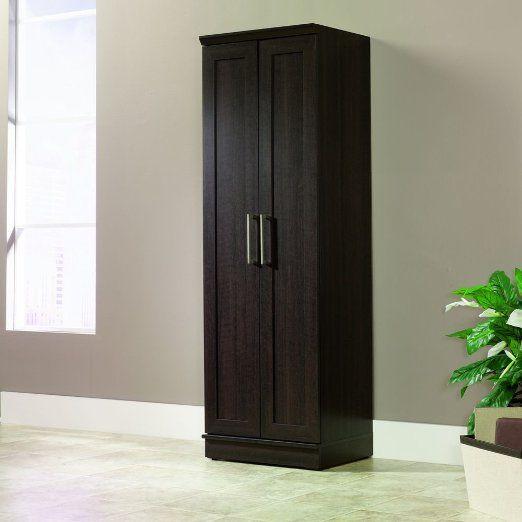 Kitchen Pantry Amazon: Sauder HomePlus Basic Storage Cabinet, Dakota Oak