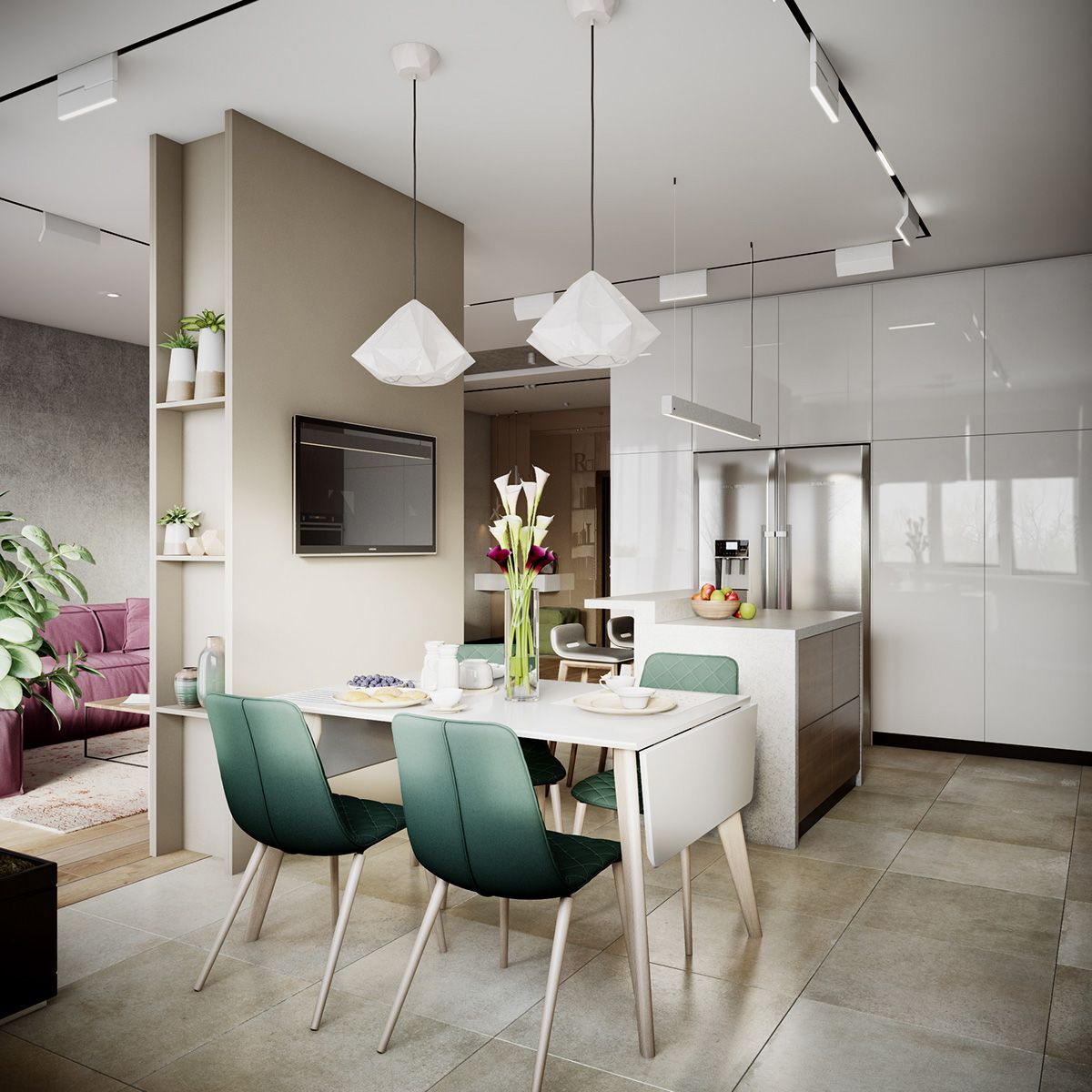 Cocina Y Comedor Diario 3 Modern Apartments With Chic Rooms For The Kids