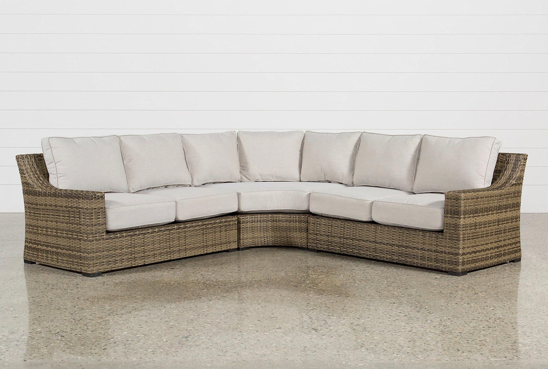 Shop For Outdoor Aventura 3 Piece Sectional At Livingspaces Com