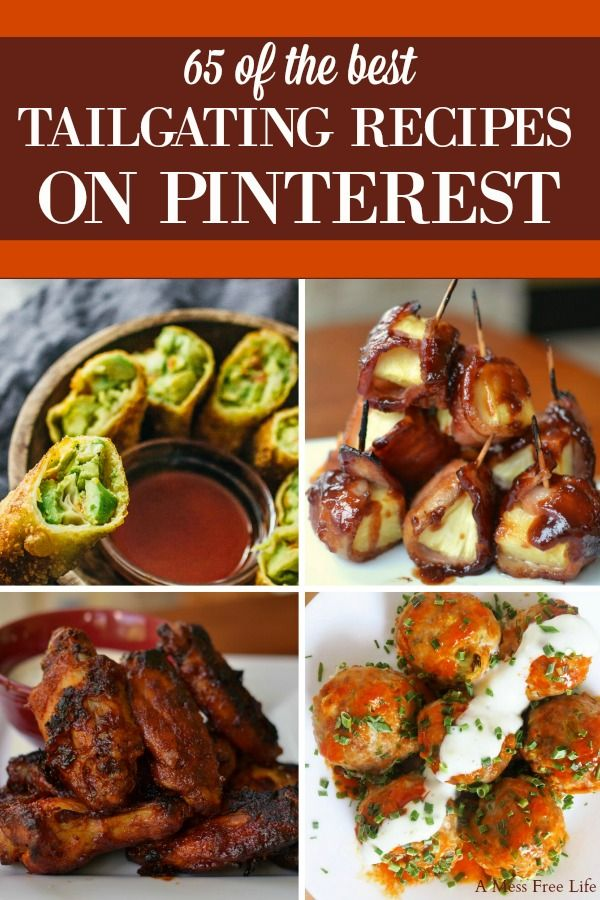 65 Of The Best Super Bowl Recipes on Pinterest #tailgatefoodmakeahead